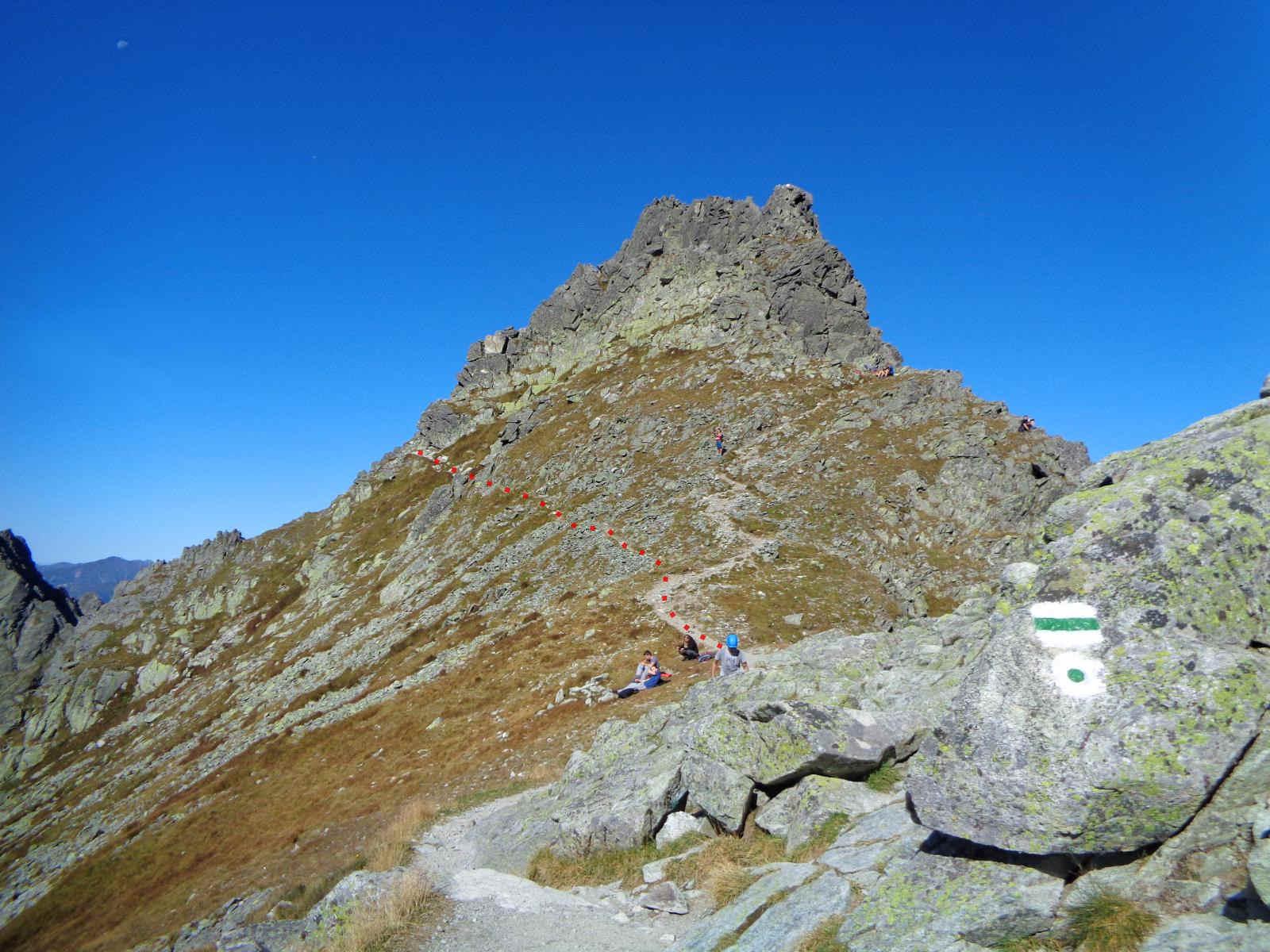 Przełęcz pod Chłopkiem, Droga po Głazach