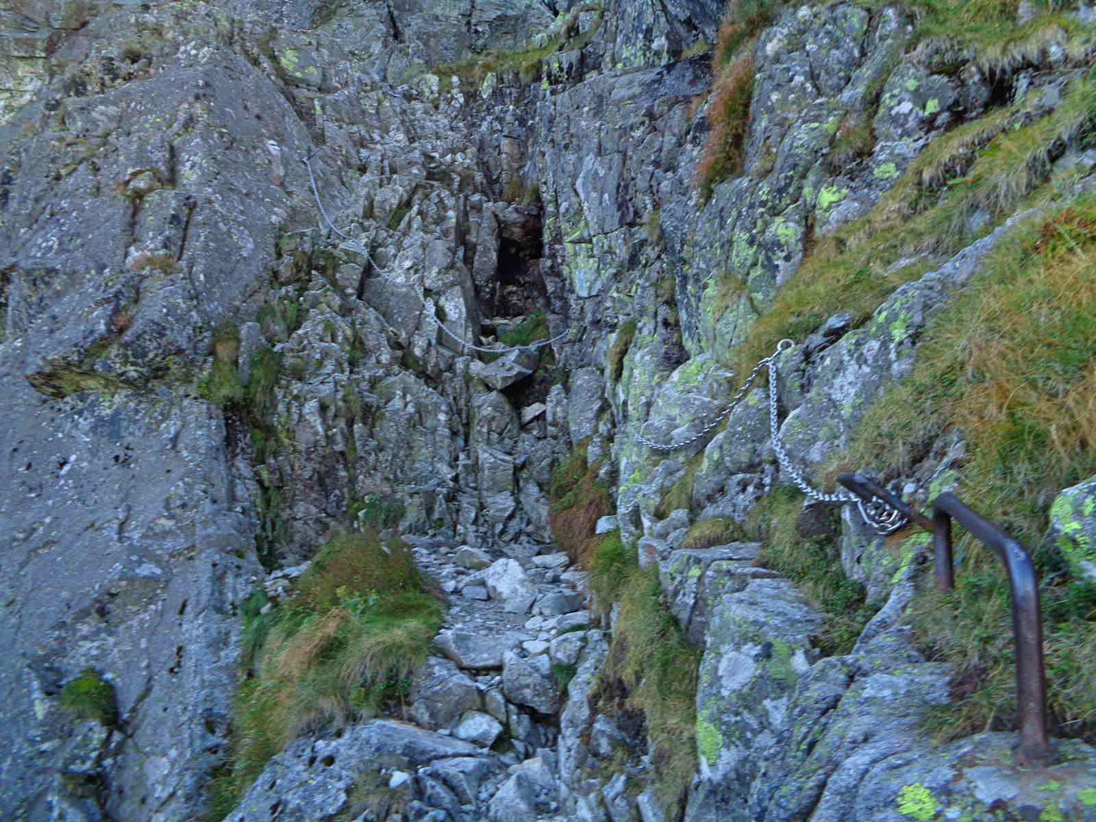 Przełęcz pod Chłopkiem, łańcuchy