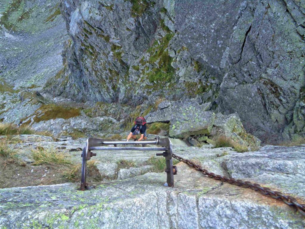 Kozia Przełęcz, drabinka