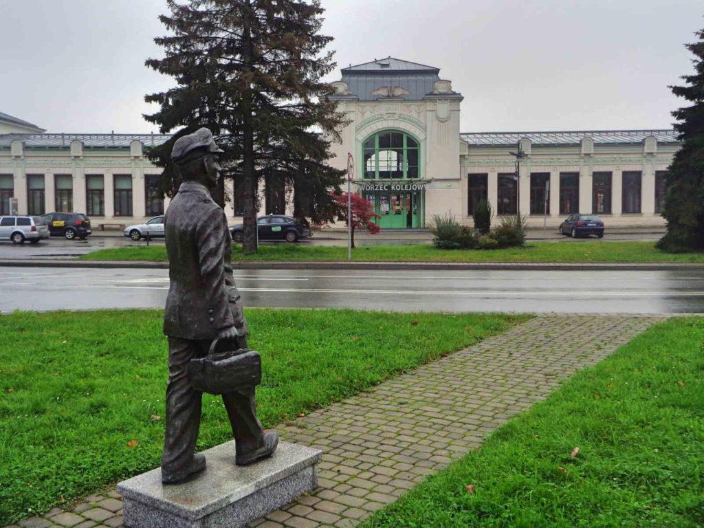 Nowy Sącz, Dworzec PKP