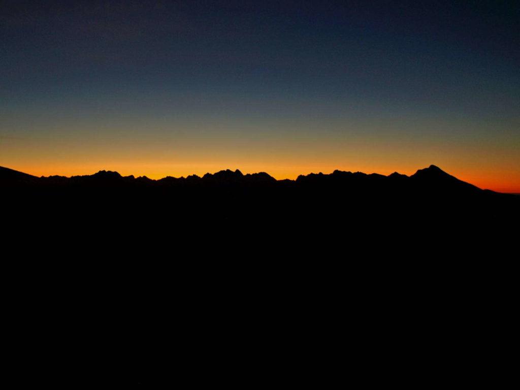Tatry, wschód słońca