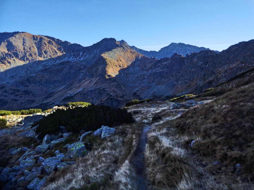 Gładka Przełęcz, zejście do szlaku