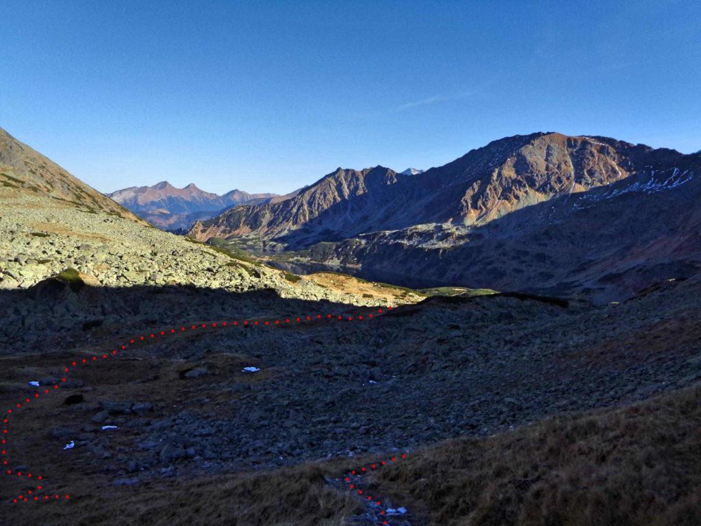 Zejście z Gładkiej Przełęczy