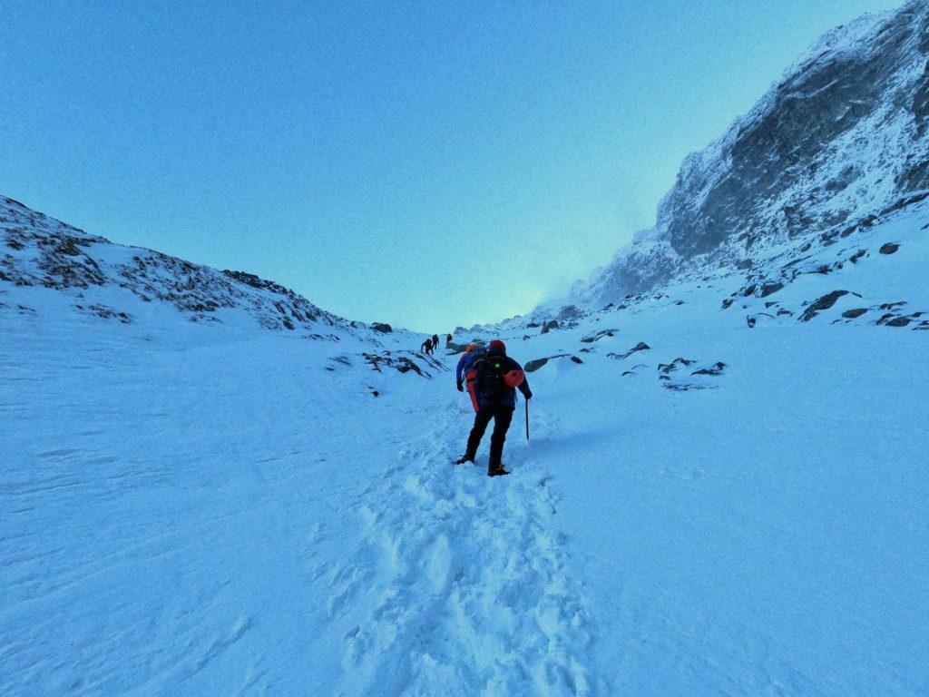 Szlak na Rysy w zimie