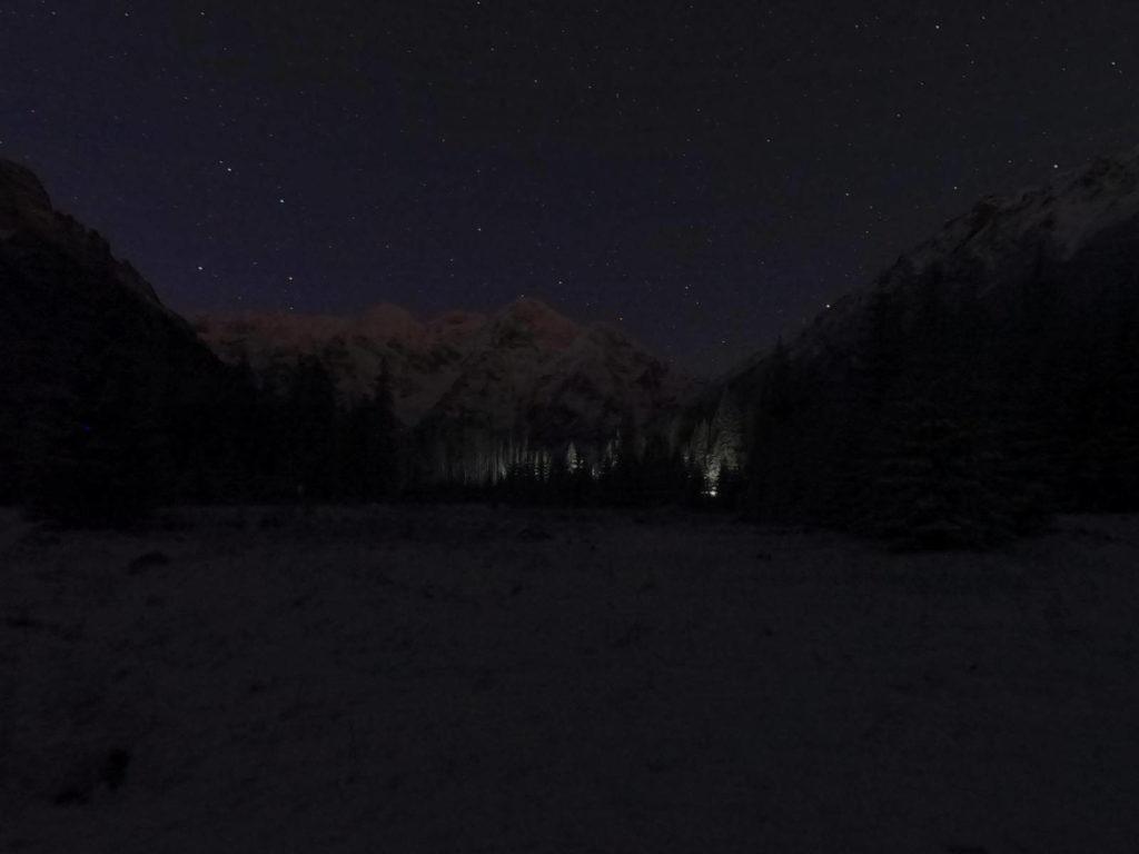 Włosienica nocą