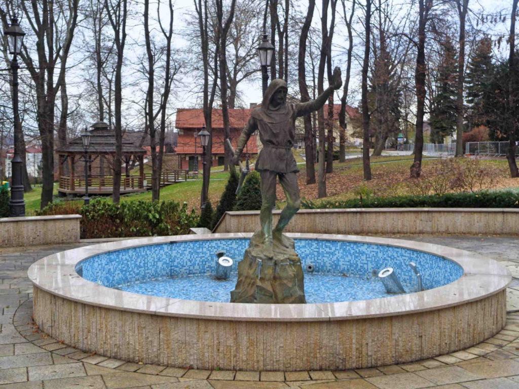 Park św. Kingi, fontanna