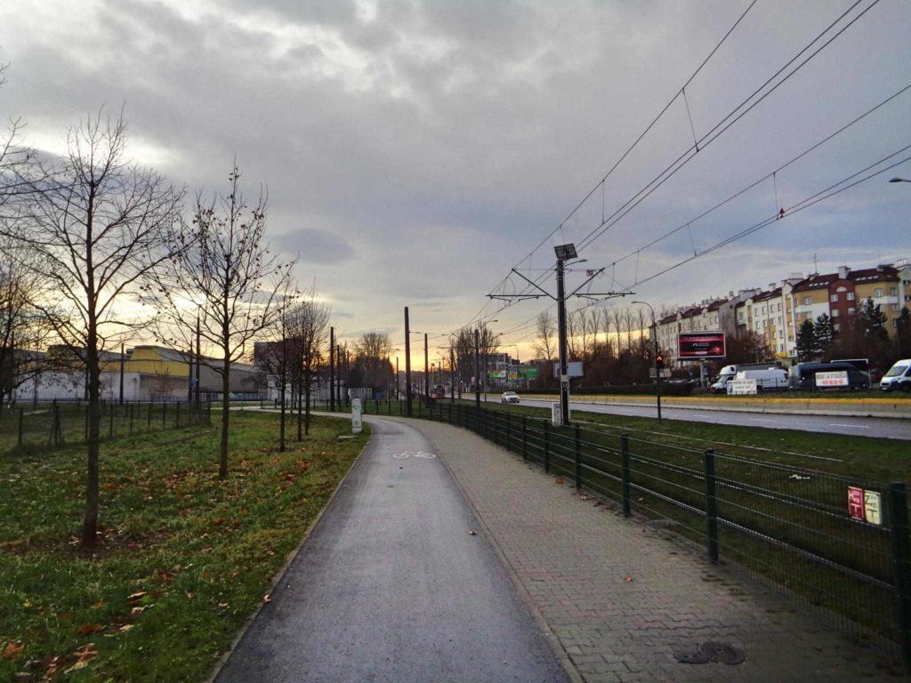 Ulica Wielicka, ścieżka rowerowa