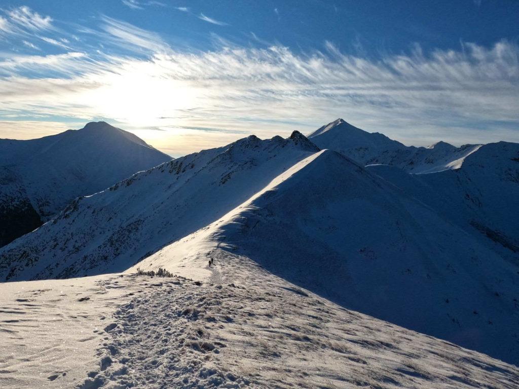 Ornaczańska Przełęcz w zimie