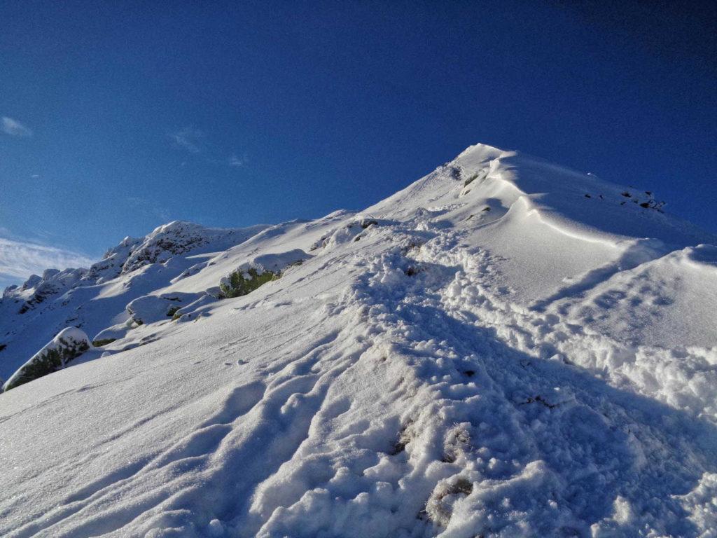 Podejście na Siwy Zwornik zimą