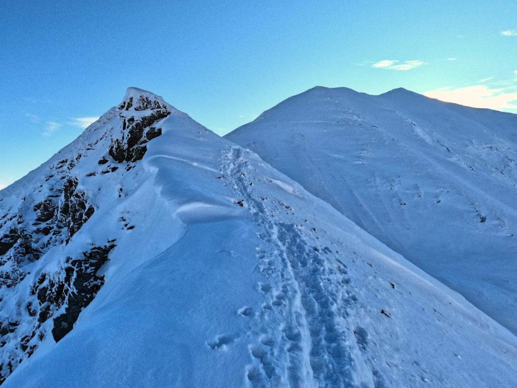 Szlak na Bystry Karb w zimie