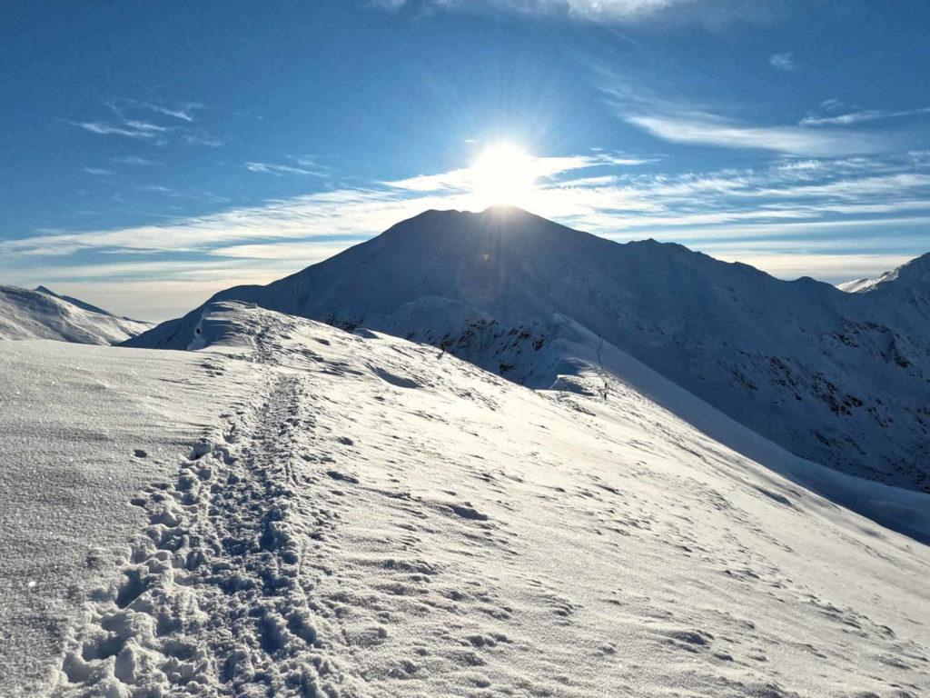Szlak na Bystry Karb zimą