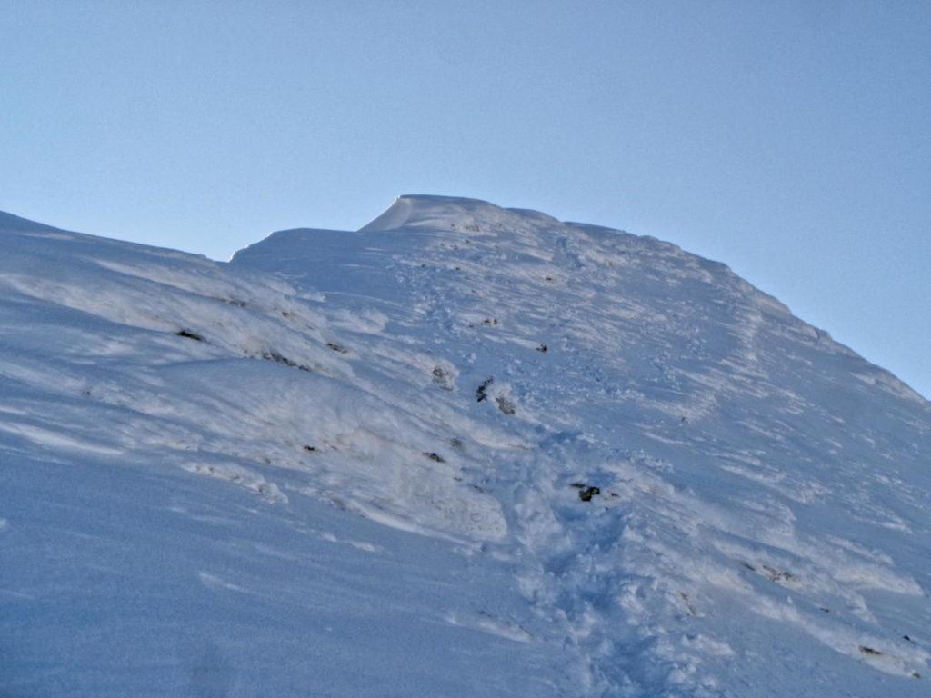 Wejście na Bystrą w zimie