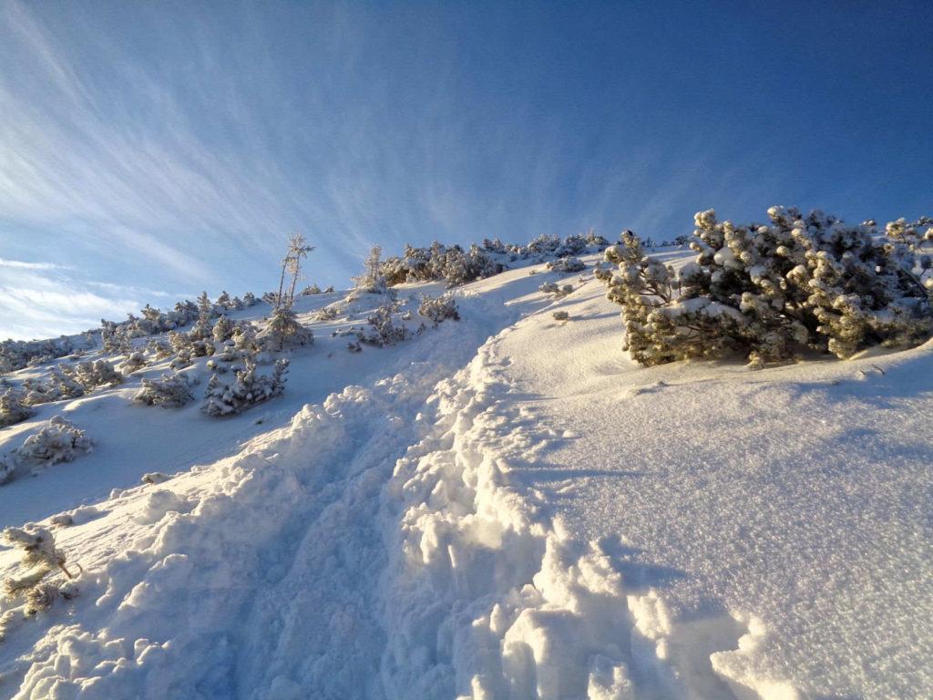Wejście na Ornak zimą
