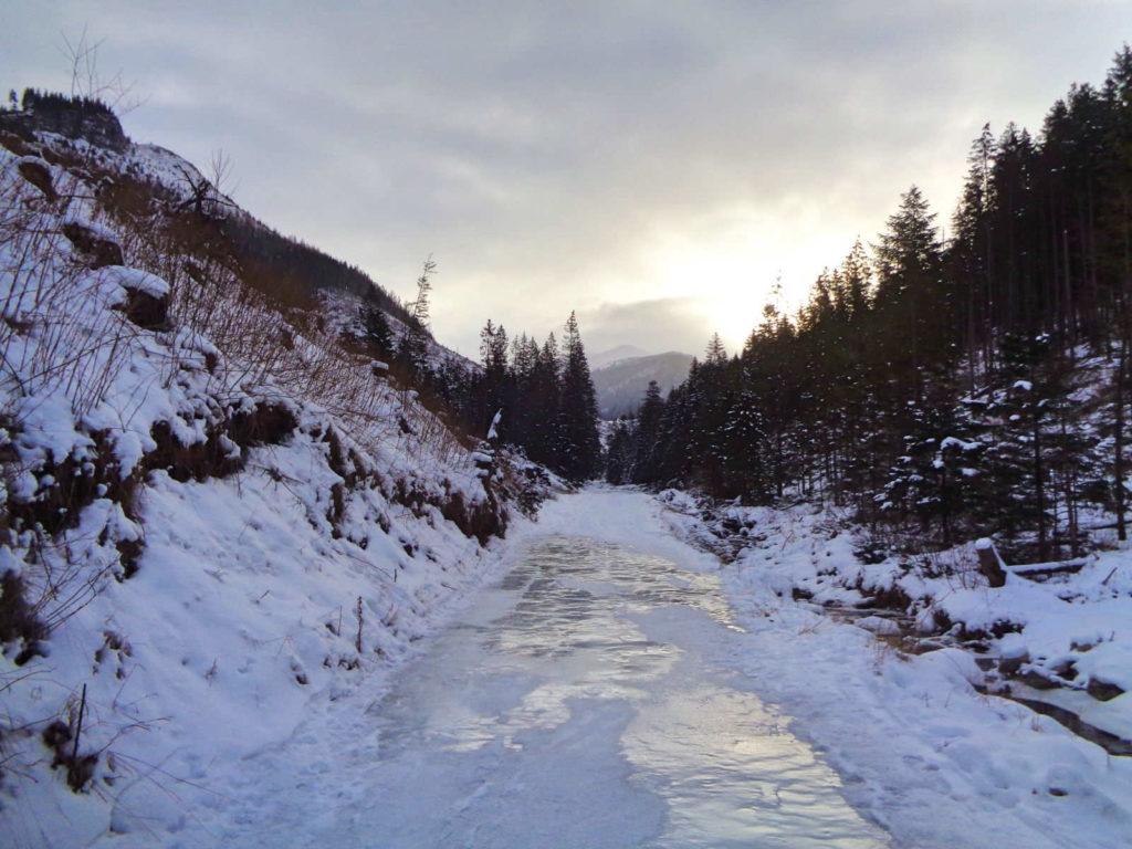 Dolina Lejowa, warunki zimą