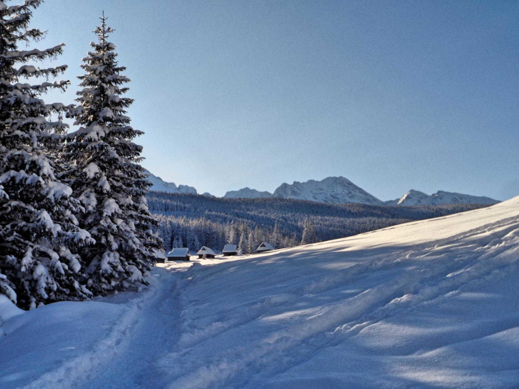 Polana Kopieniec w zimie