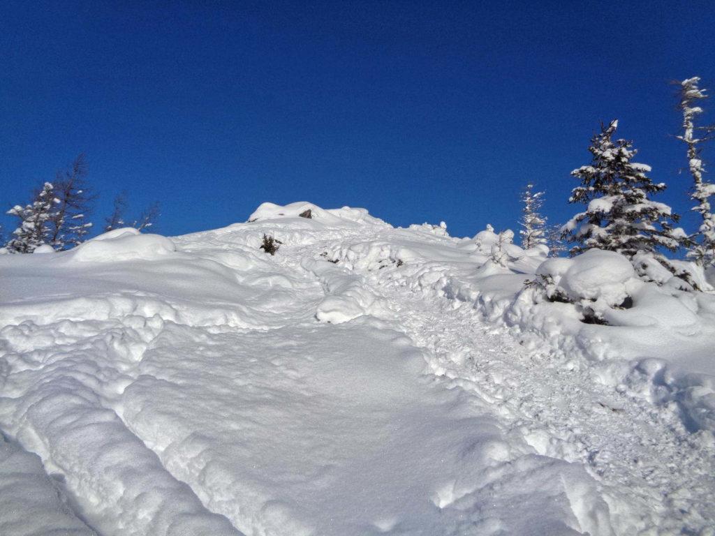 Wielki Kopieniec, wejście zimą
