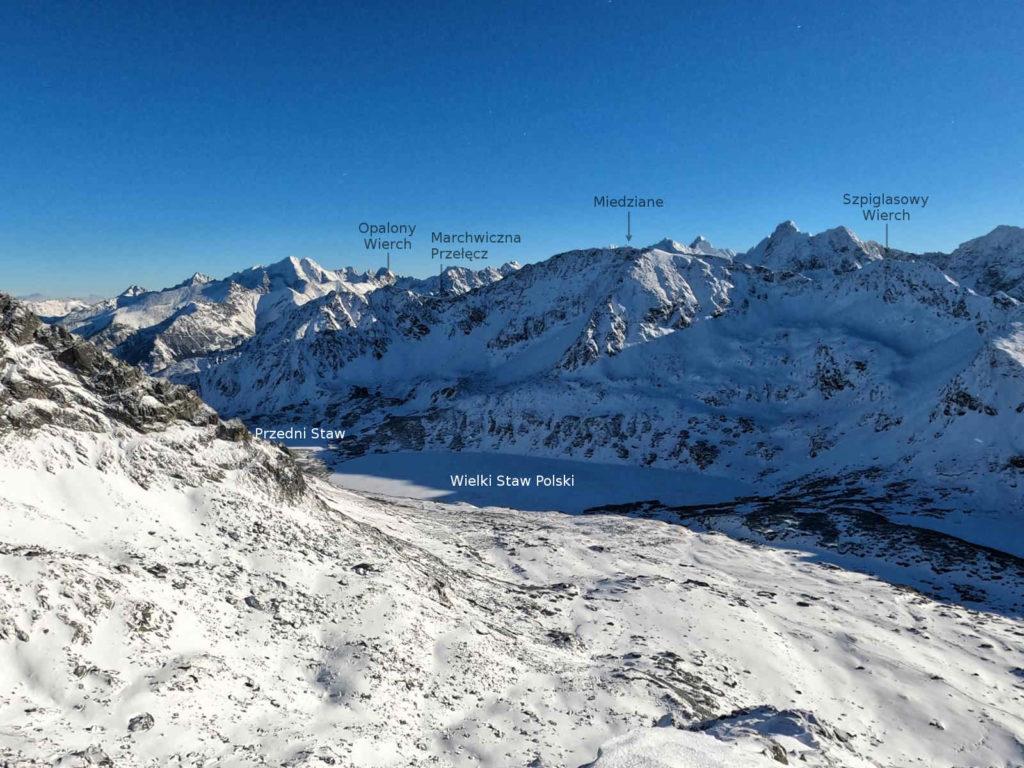 Dolina Pięciu Stawów w zimie