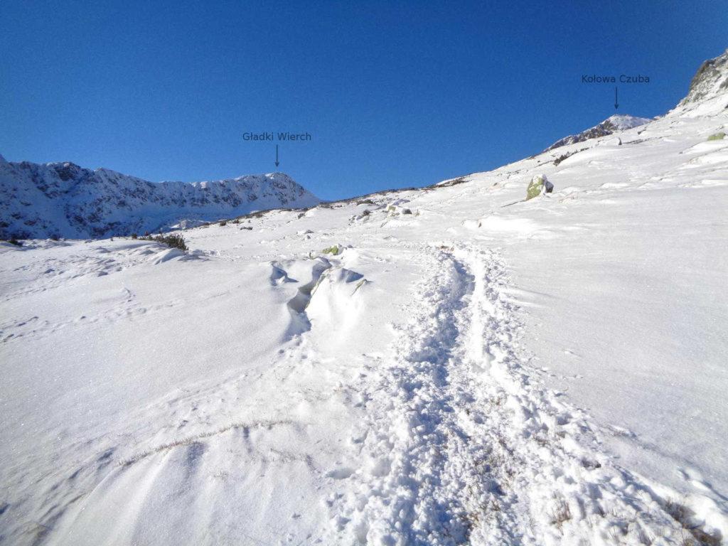 Dolina Pięciu Stawów w zimowych warunkach