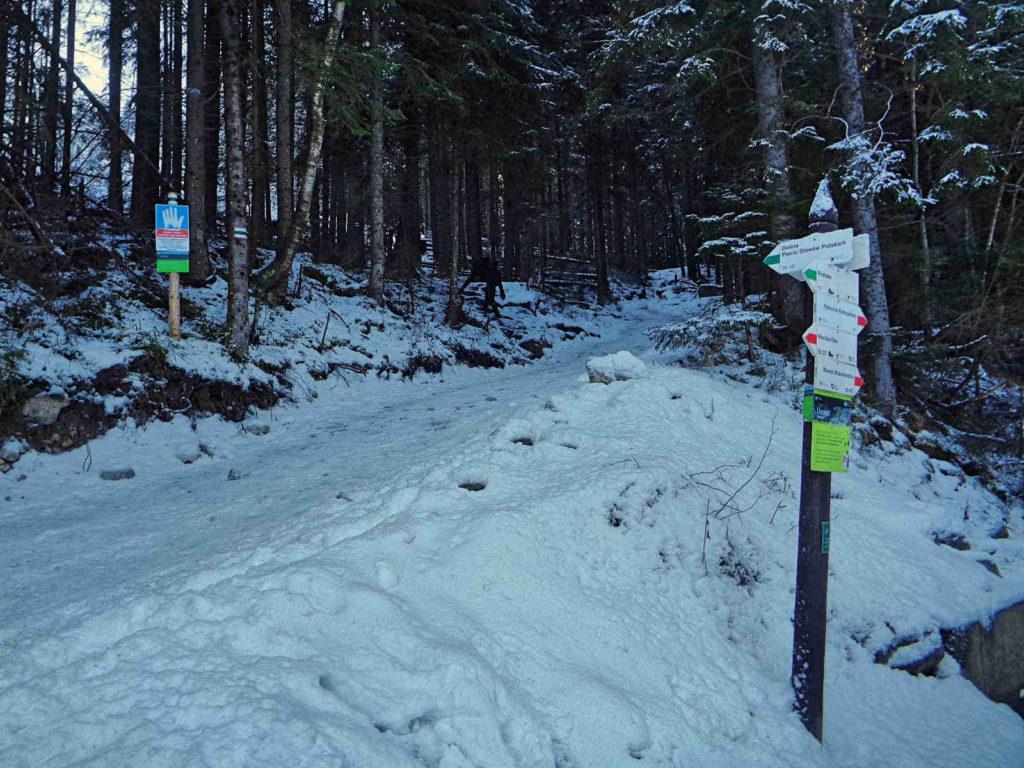 Start szlaku do Doliny Pięciu Stawów