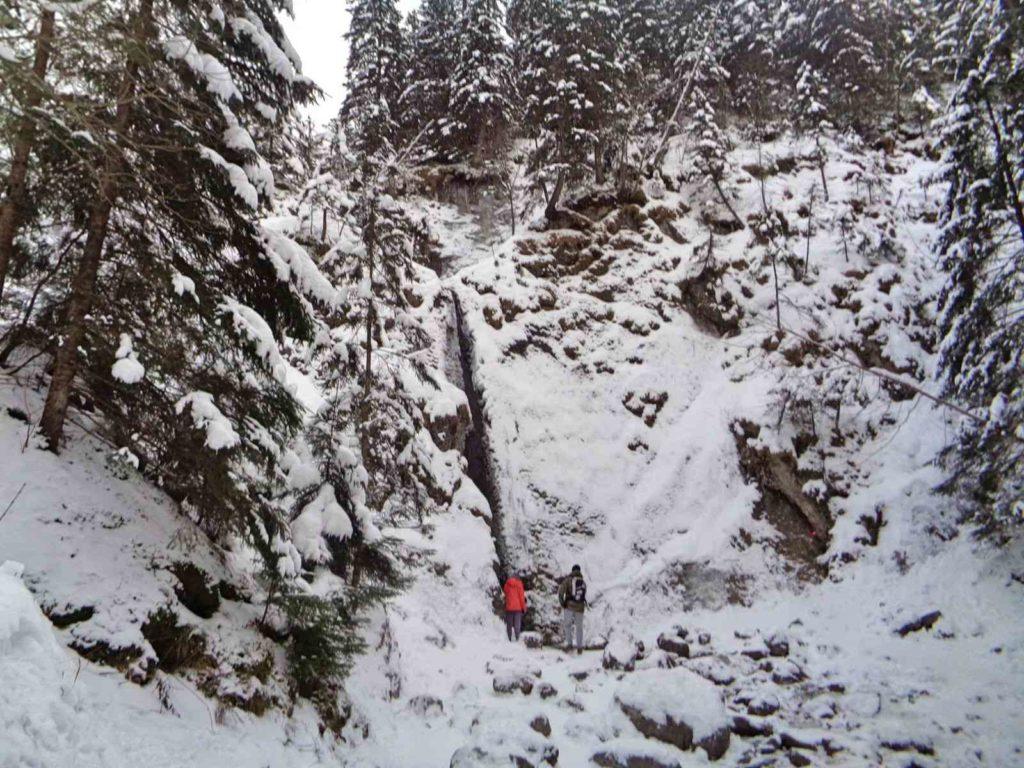 Wodospad Siklawica zimą