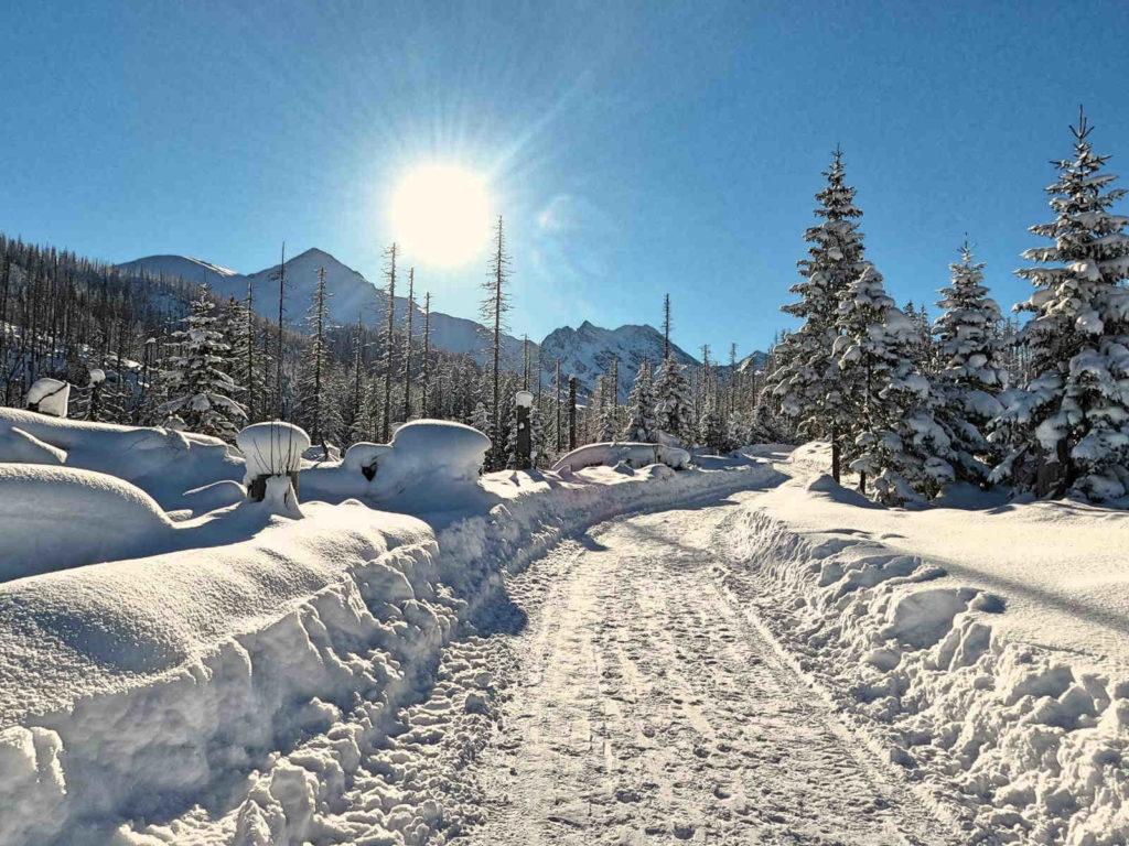 Czarny szlak do Murowańca zimą