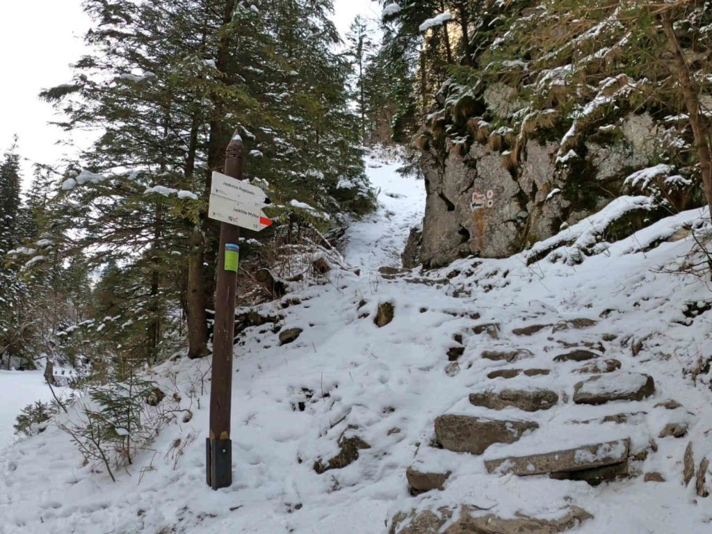 Dolina Kościeliska, jaskinie zimą