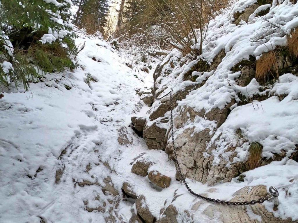 Jaskinia Mylna, dojście zimą
