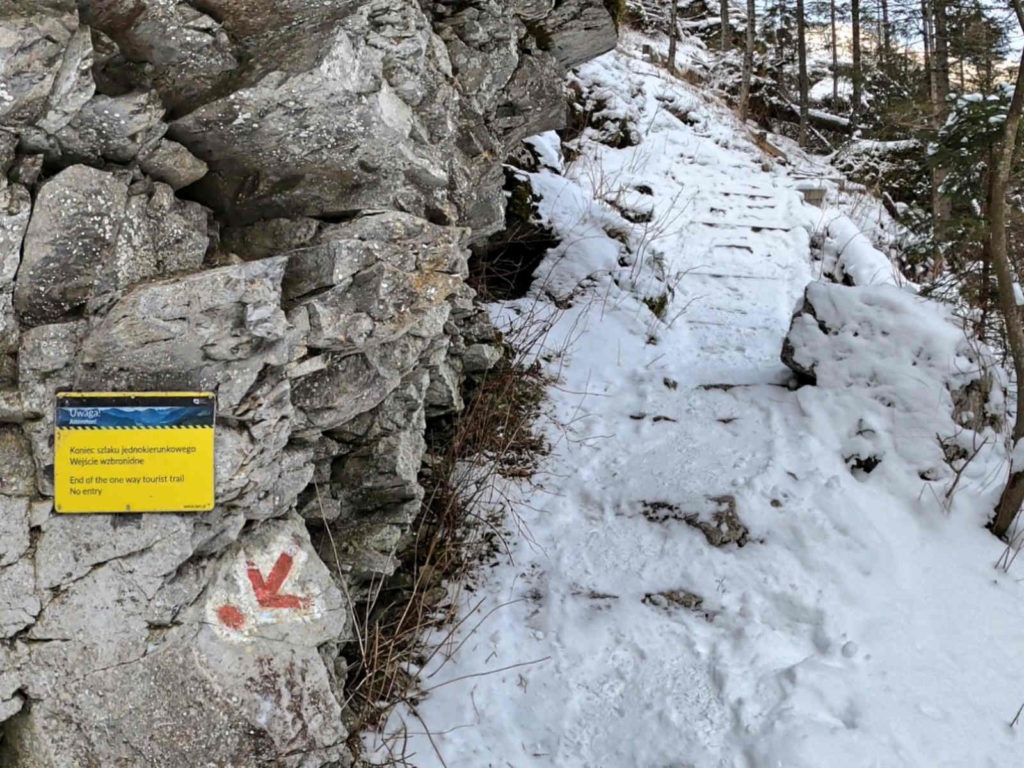 Jaskinia Mylna, szlak jednokierunkowy