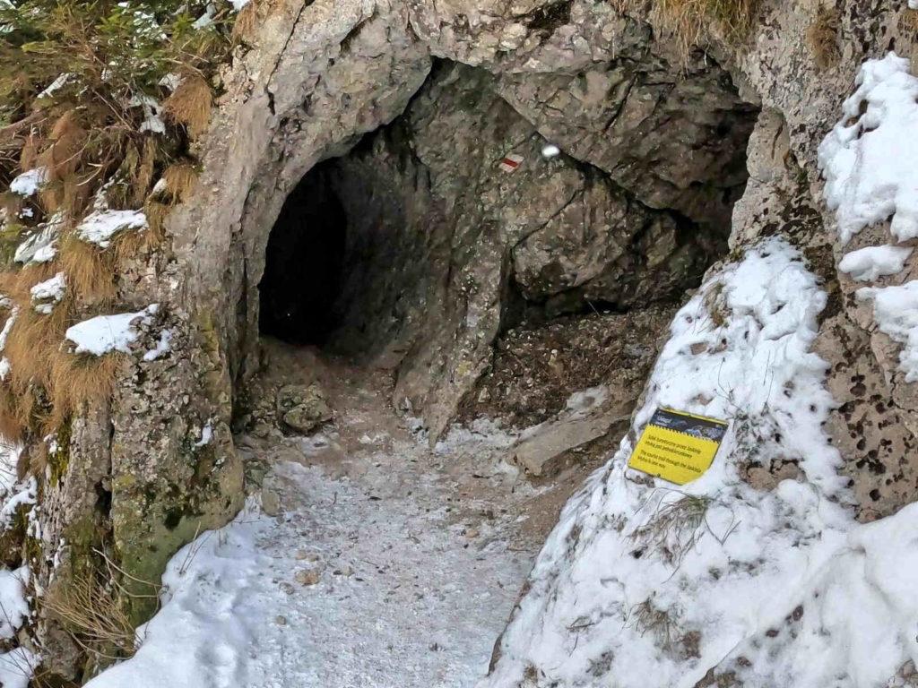 Jaskinia Mylna zimą