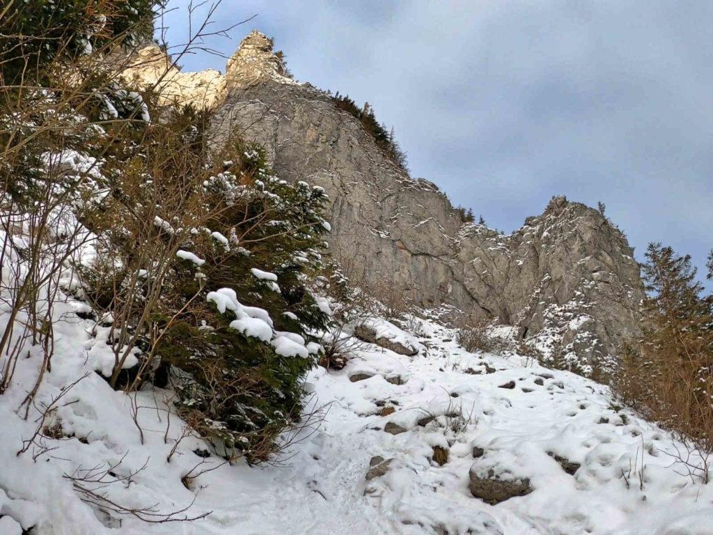 Jaskinia Raptawicka, dojście zimą