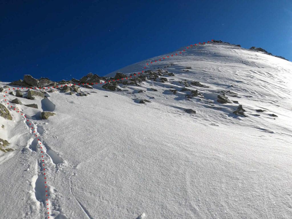 Przełęcz Schodki zimą