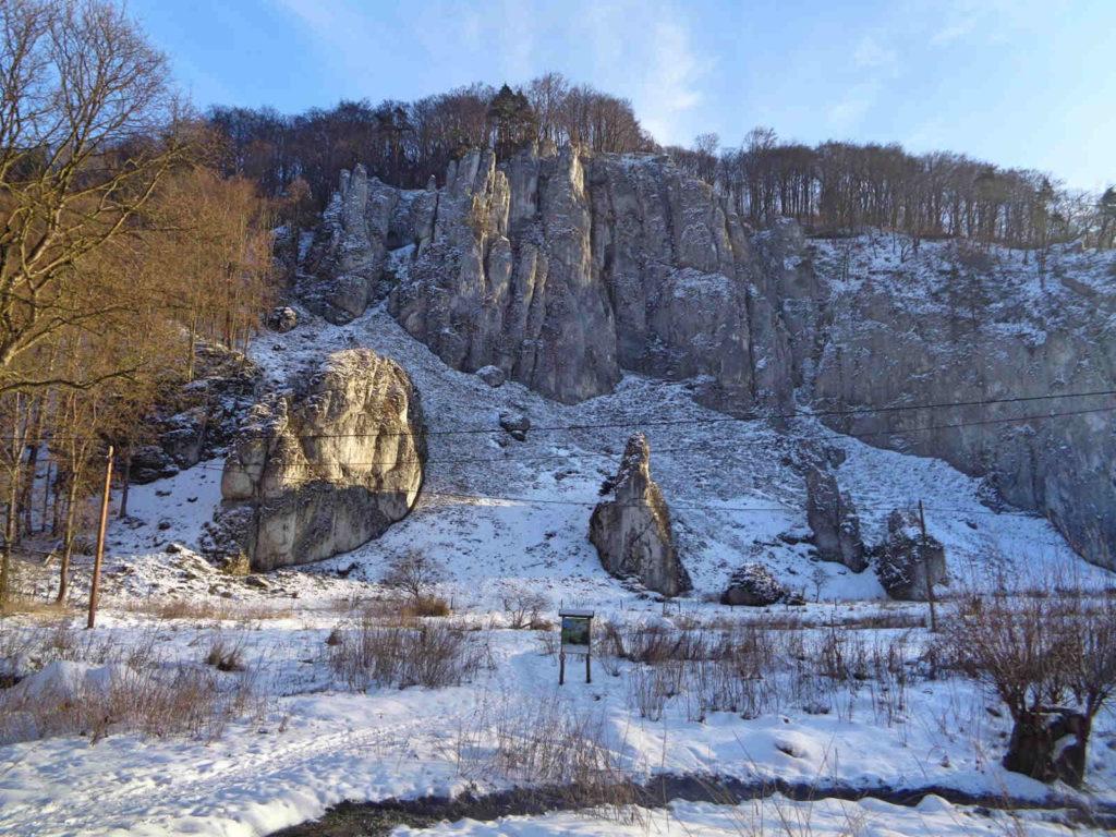 Ojcowski Park Narodowy zimą