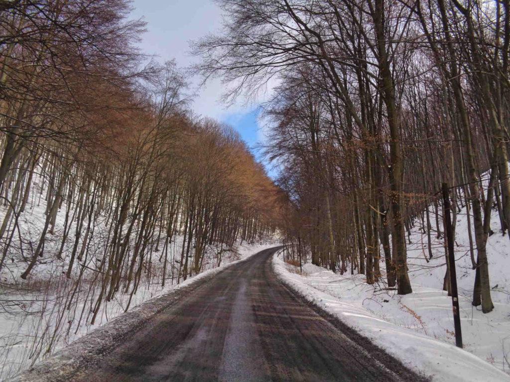 Dolina Racławki, droga na Żary