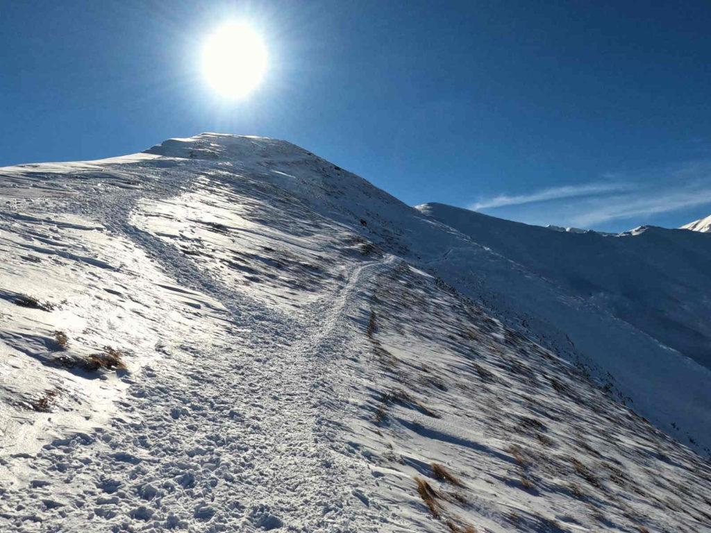 Kończysty Wierch, wejście zimą