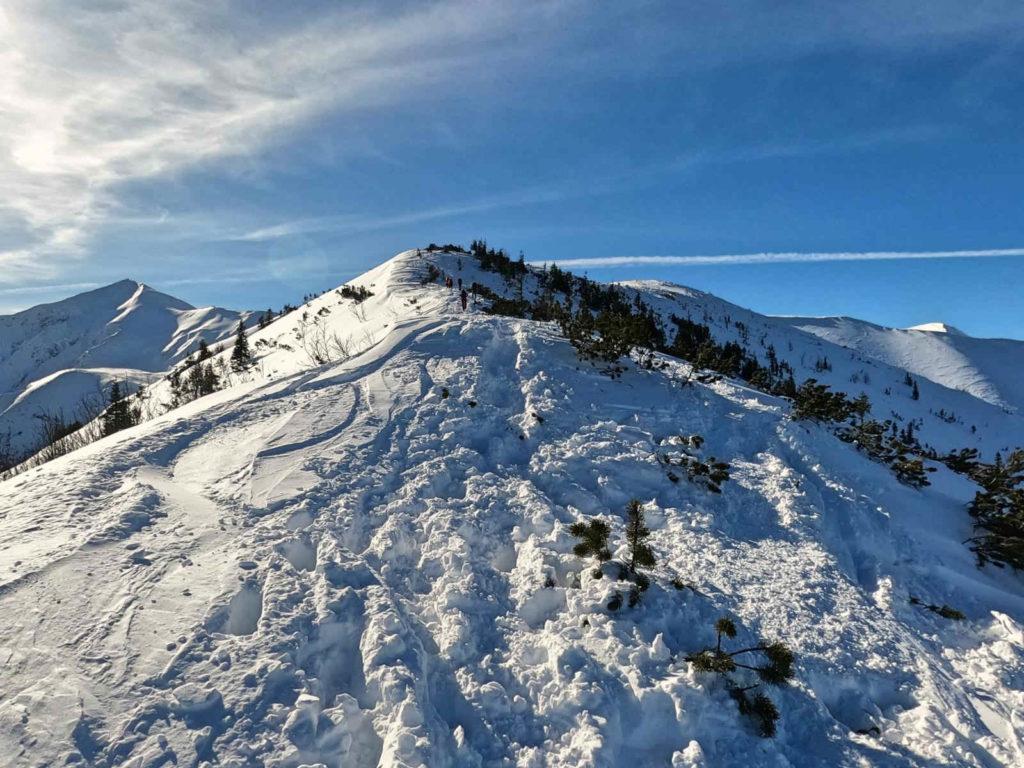 Trzydniowiański Wierch, wejście zimą