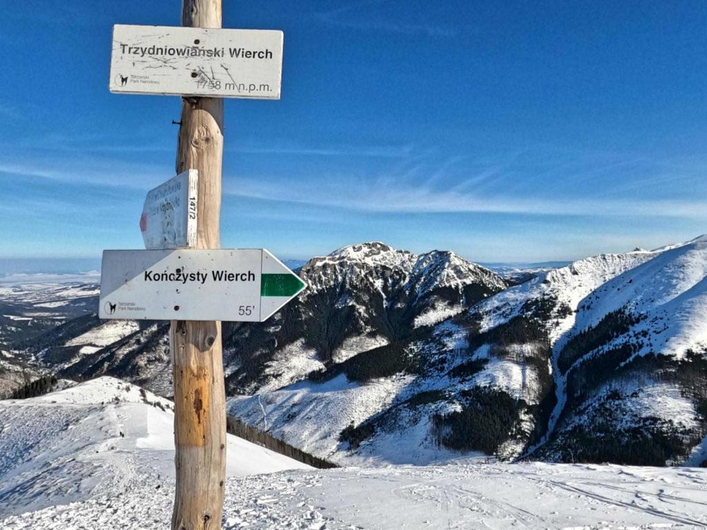 Trzydniowiański Wierch zimą