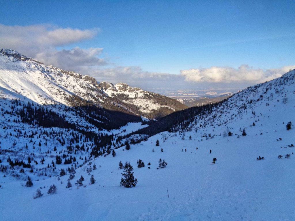 Dolina Kondratowa zimą