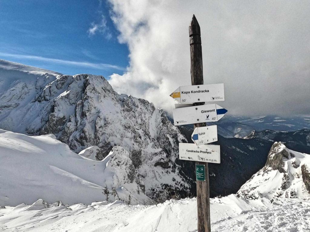 Kondracka Przełęcz zimą