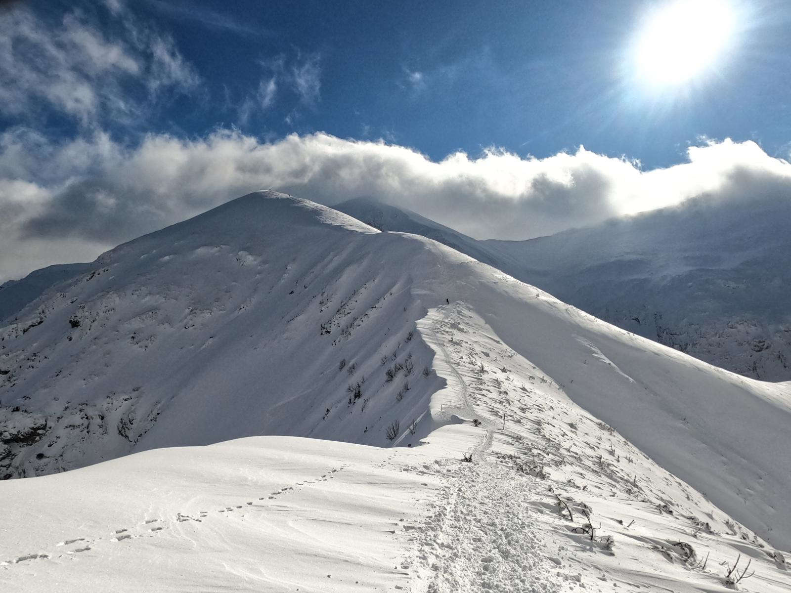 Kopa Kondracka wejście w zimie