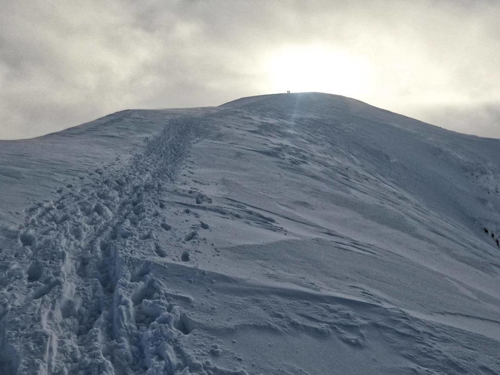 Kopa Kondracka, wejście zimą