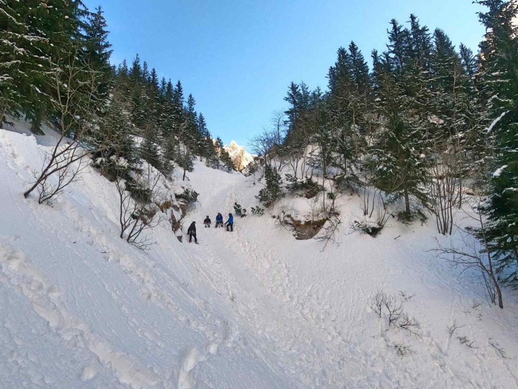 Kopa Kondracka, żółty szlak zimą