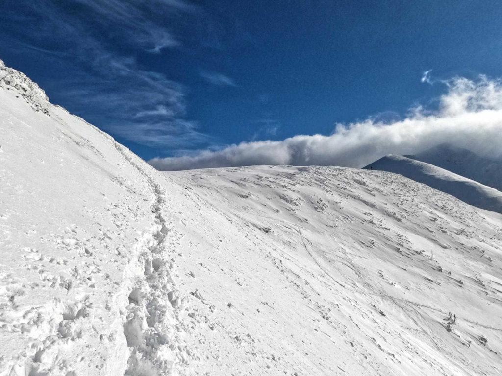 Zimowy szlak na Giewont
