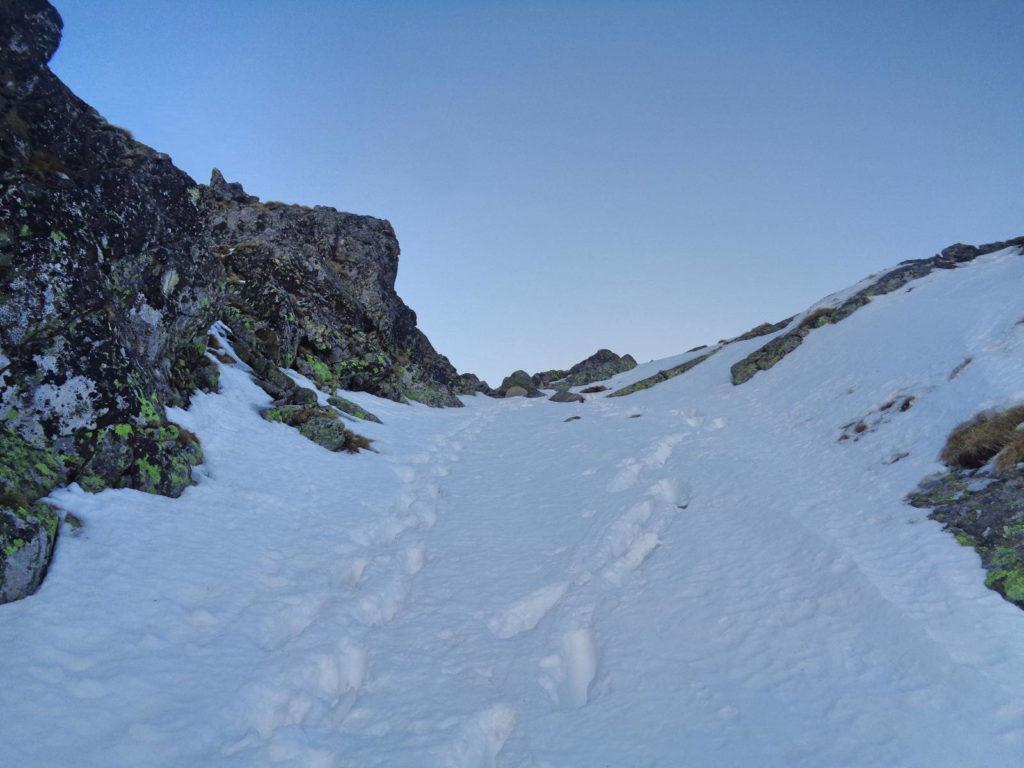 Wejście na Zadni Kościelec zimą