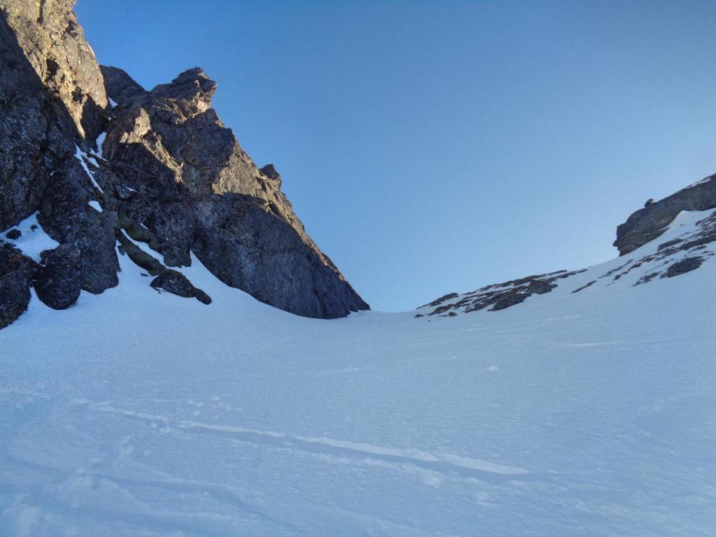 Zimowa droga na Mylną Przełęcz