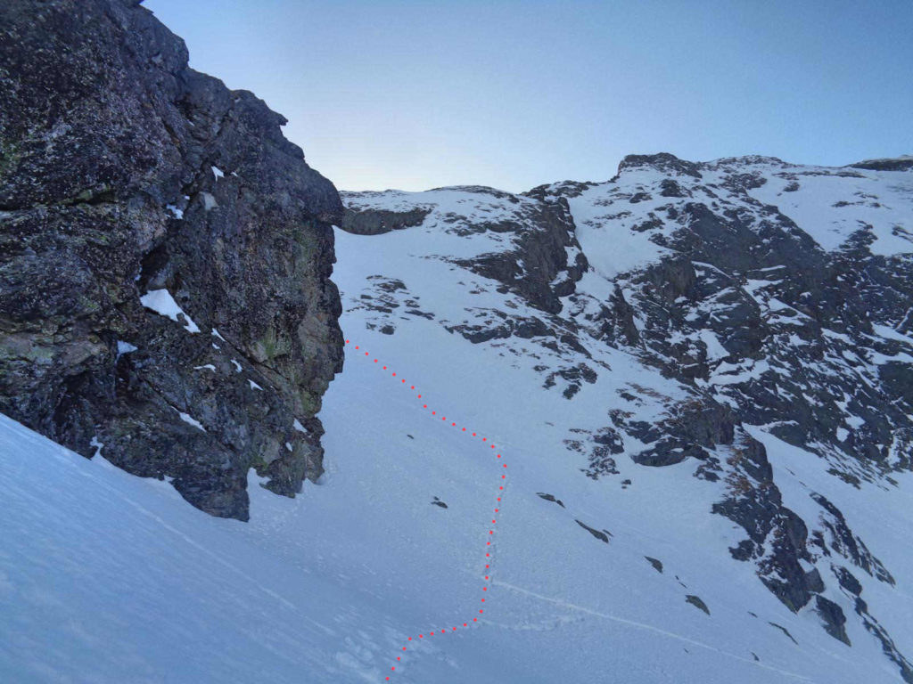Zimowe wejście na Mylną Przełęcz