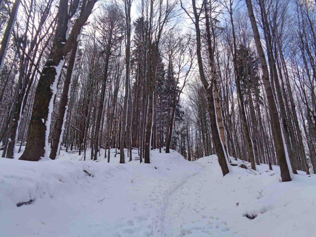 Czupel, wejście zimą