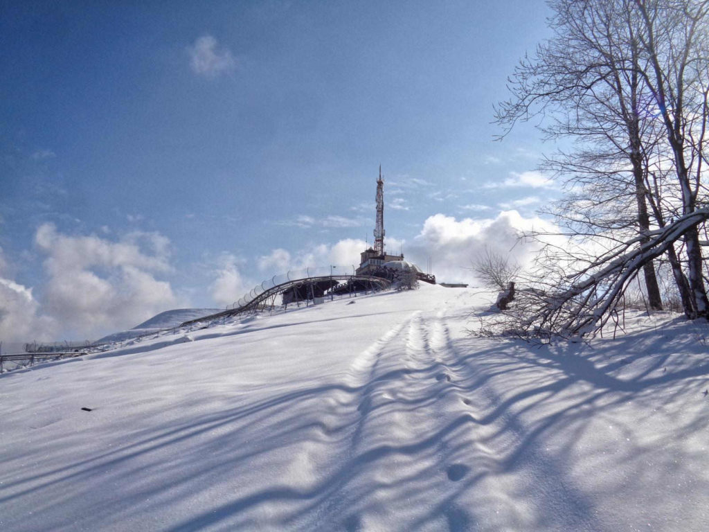 Góra Żar w zimie