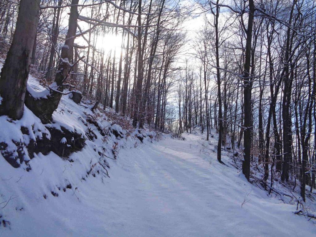 Góra Żar, wejście w zimie