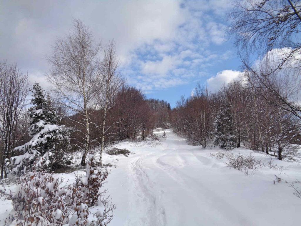 Kiczera, wejście w zimie