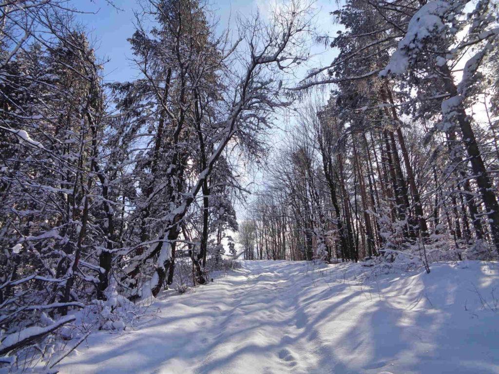 Żar, wejście w zimie